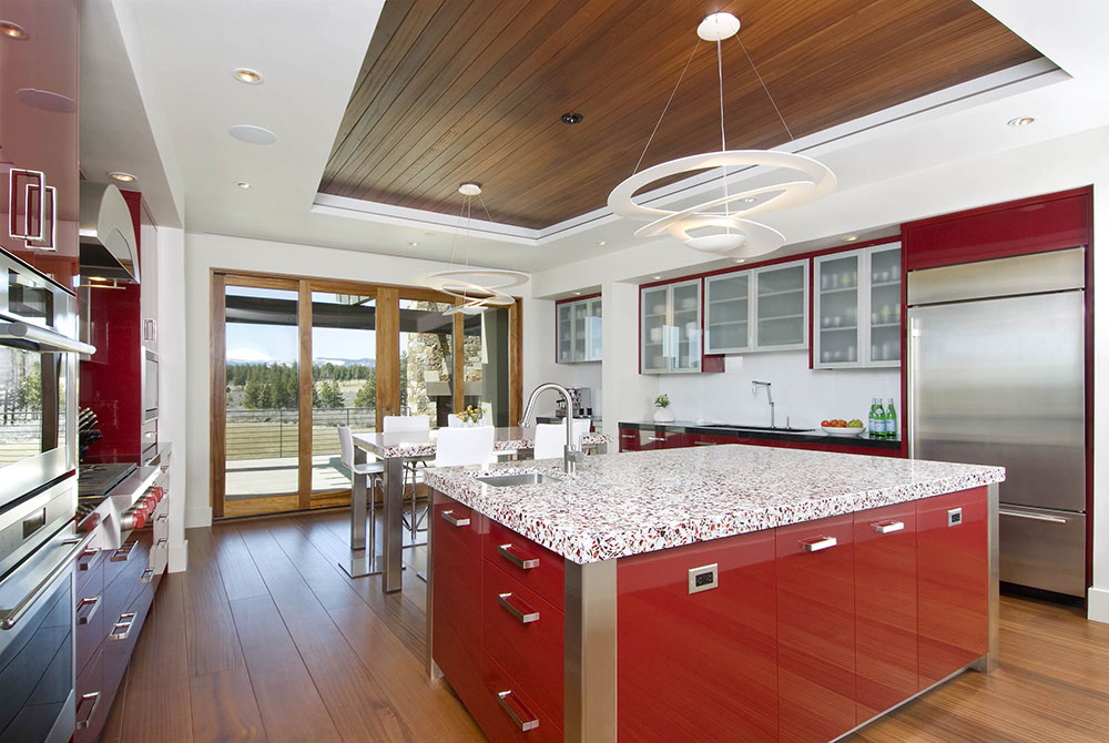 Modern-in-Red-by-Dansky-Handcrafted-LLC The best tips for interior design and decoration of the 70s that you can use