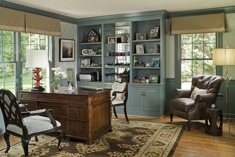Oakton-Residence-by-Rachel-Bauer The colors that go with blue-green?  Check out these color combinations