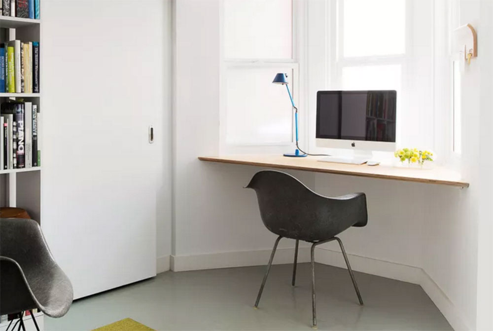 Floating Window Desk Use a desk for a small space and the options to try