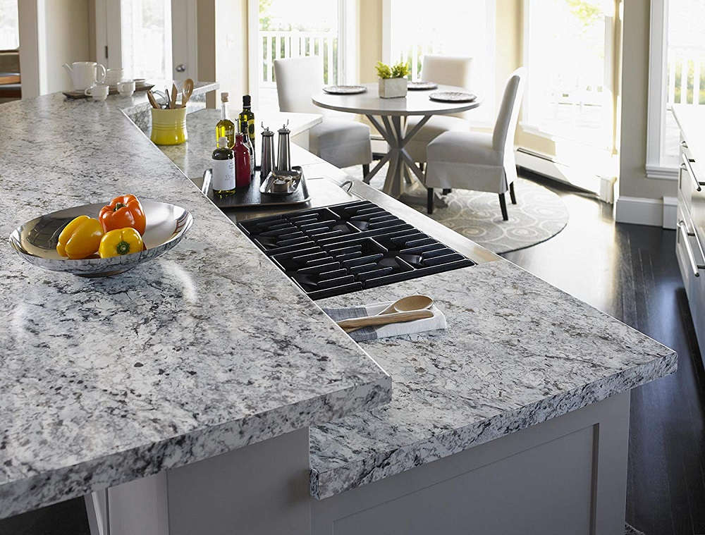 t7-46 worktops made of white ice granite, inspiration and tips for their use