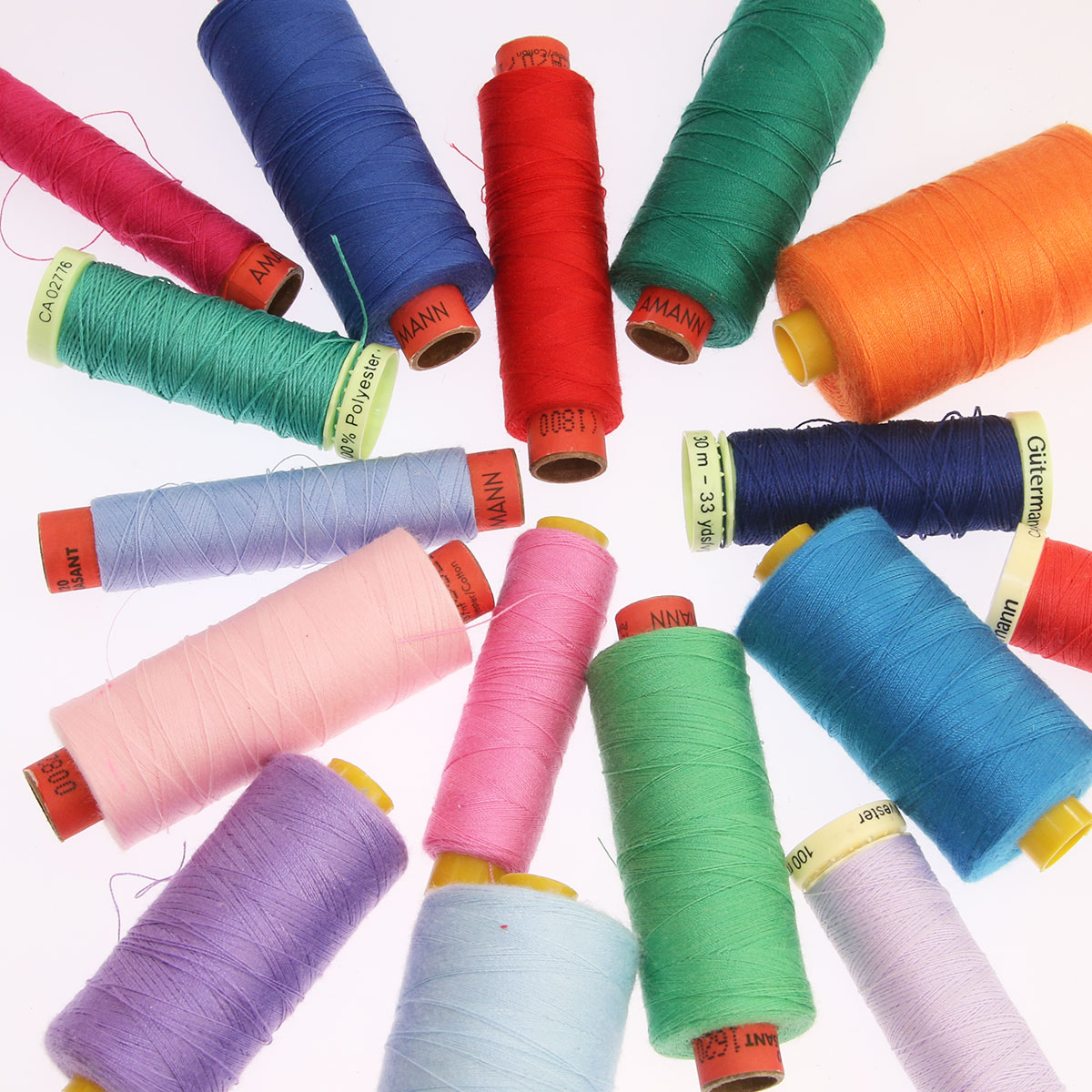 Instructions for the various upholstery   sewing threads