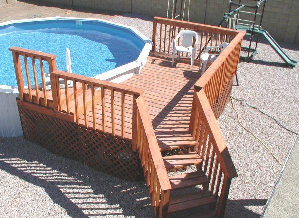 Above Ground Pool Design Ideas | Planning Above Ground Pool Deck .