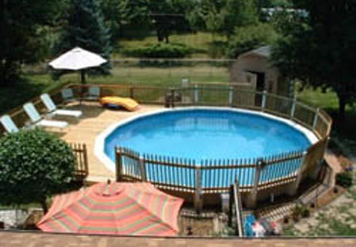 pool decks for above ground pools free plans | Gallery Image .