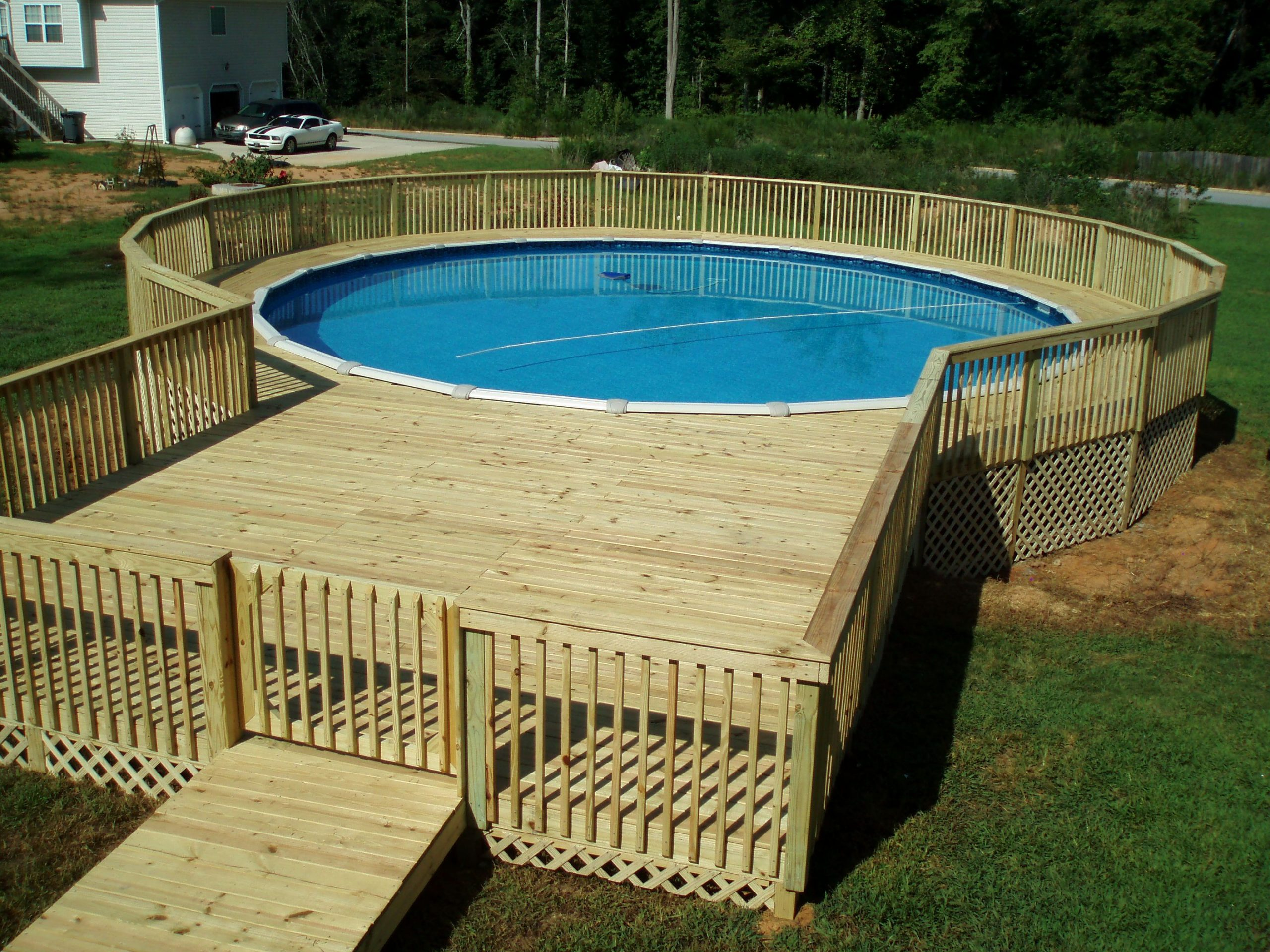 Cool above-ground pool decks as   inspiration for your own