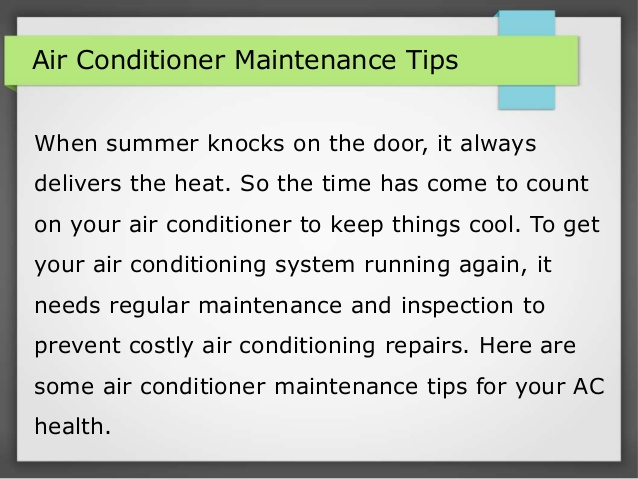 Important Tips for Air Conditioner Maintenan