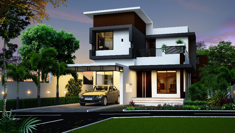 Spectacular Modern House Designed By KHD | 2 storey house design .