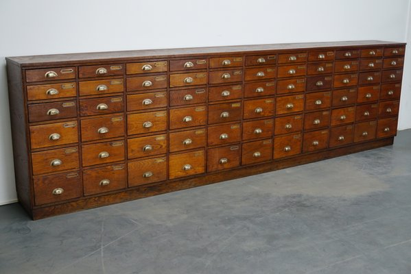 Vintage Large Dutch Oak Apothecary Cabinet for sale at Pamo