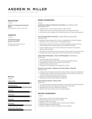 Andrew Miller Landscape Architecture Resume by Andrew Miller - iss