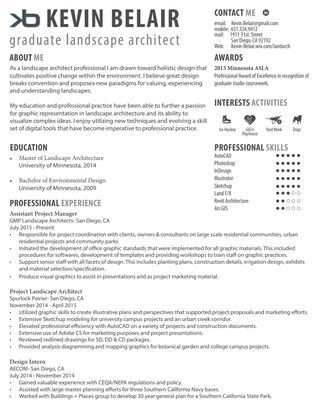 Landscape Architecture Resume by Kevin Belair - iss