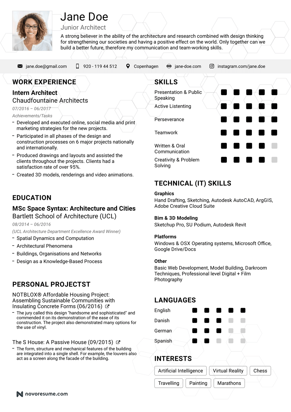 The architecture resume that will hire   you (templates included)