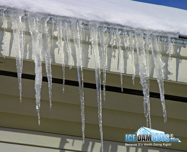 Are icicles a sign of an ice dam on your   roof?