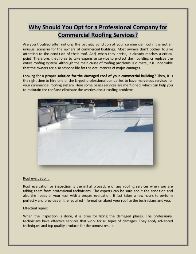 Do you have commercial roof   problems? Here are some solutions