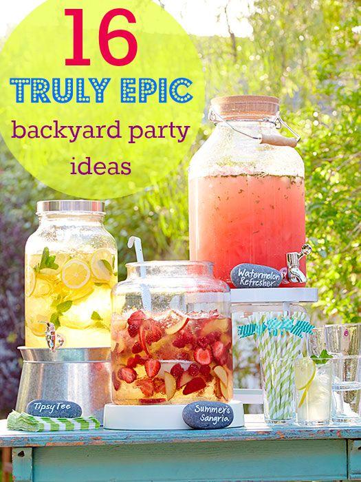 The 14 All-Time Best Backyard Party Ideas | Bbq party, Backyard .