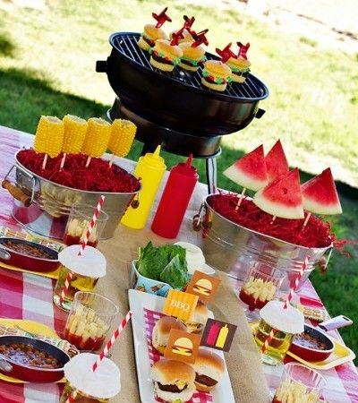 Backyard decorating ideas for the perfect   grill party