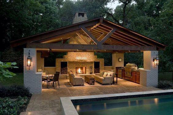 20 Gorgeous Backyard Pavilion Ide