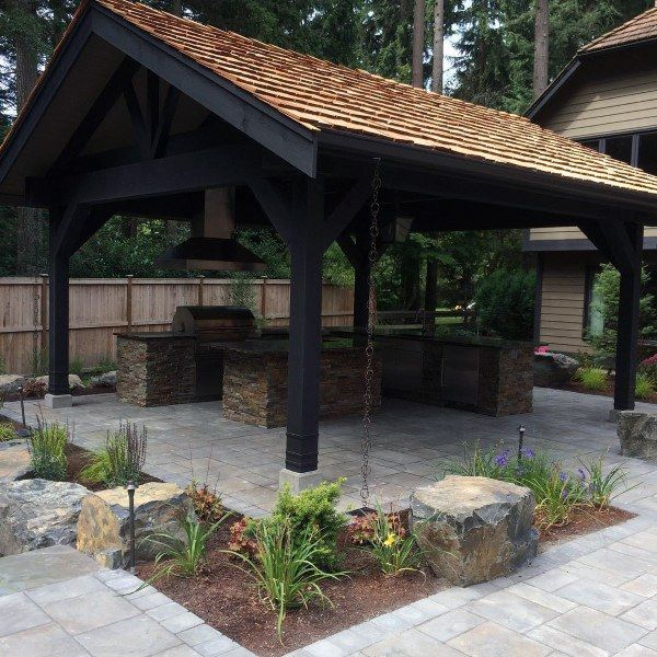 Ideas for backyard pavilions that will   beautify your green spaces