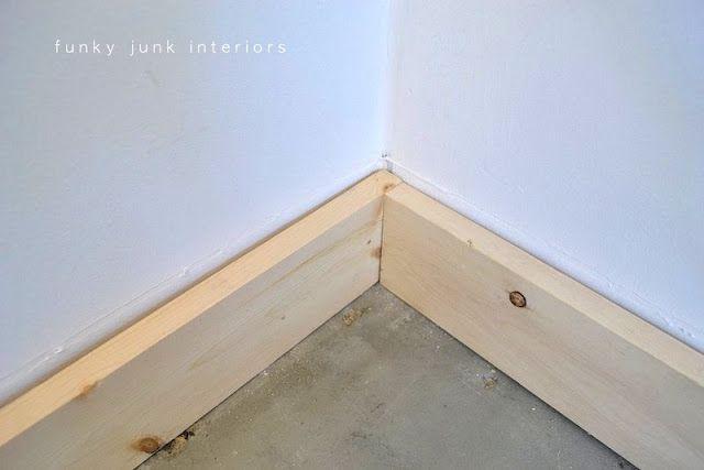 Funky Junk Interiors | Baseboards, Modern baseboards, Diy wood floo