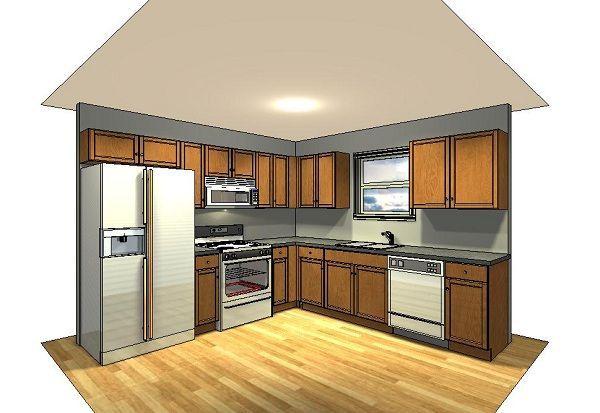 10x10 kitchen ideas | 10x10 kitchen, L-shape | Kitchen layout .