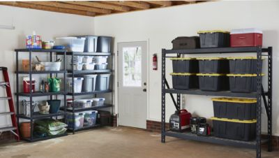 Storage ideas in the basement so you can   better organize your space