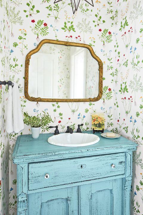 28 Bathroom Wallpaper Ideas - Best Wallpapers for Bathroo