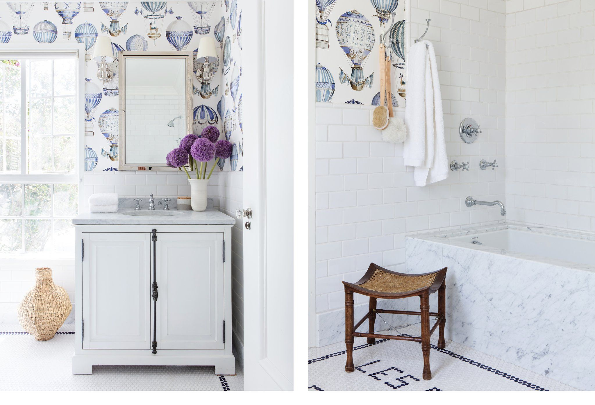 Ideas for bathroom wallpapers that you   can try out in your home
