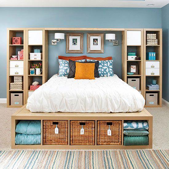 Copy This Bedroom's 25 Creative Storage Ideas | Bedroom makeover .