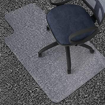 """Amazon.com : Azadx 36"""" X 48"""" Clear PVC Carpet Chair Mat, Multitask ."""