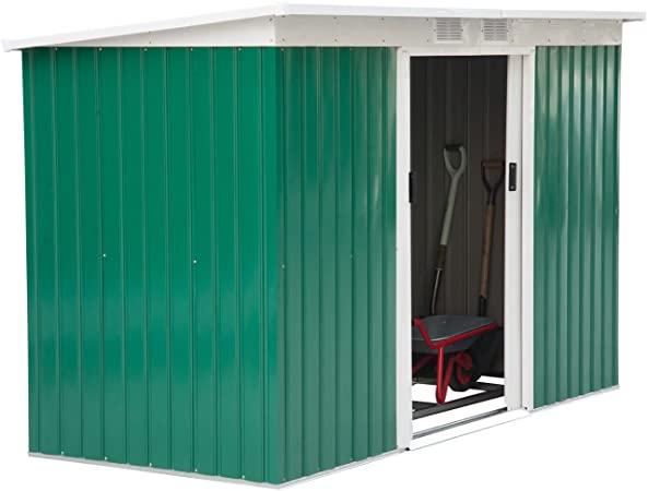 Amazon.com : Outsunny 9' x 4' Outdoor Rust-Resistant Metal Garden .