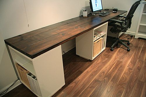DIY - Make your own desk | Diy wood desk, Diy office desk, Diy de