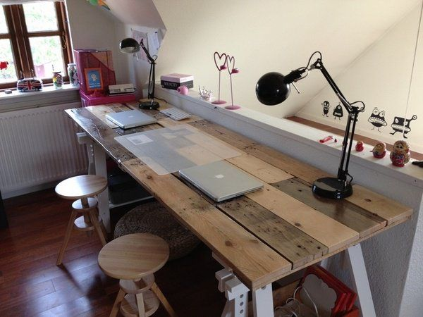 Build Your Own Multi-purpos Wooden Pallets Desk | EASY DIY and .