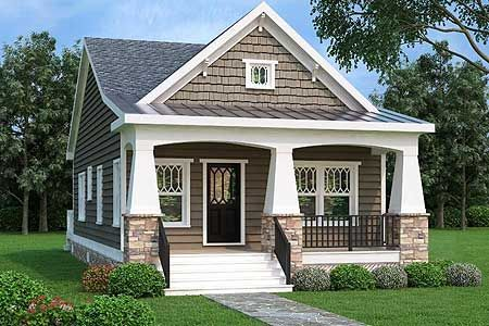 Plan 75565GB: 2 Bed Bungalow House Plan with Vaulted Family Room .