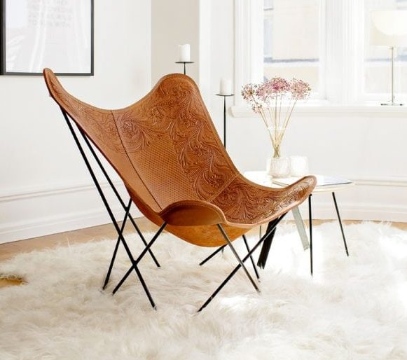 Butterfly Chair - Hand Embossed Drawing | Cuero Desi