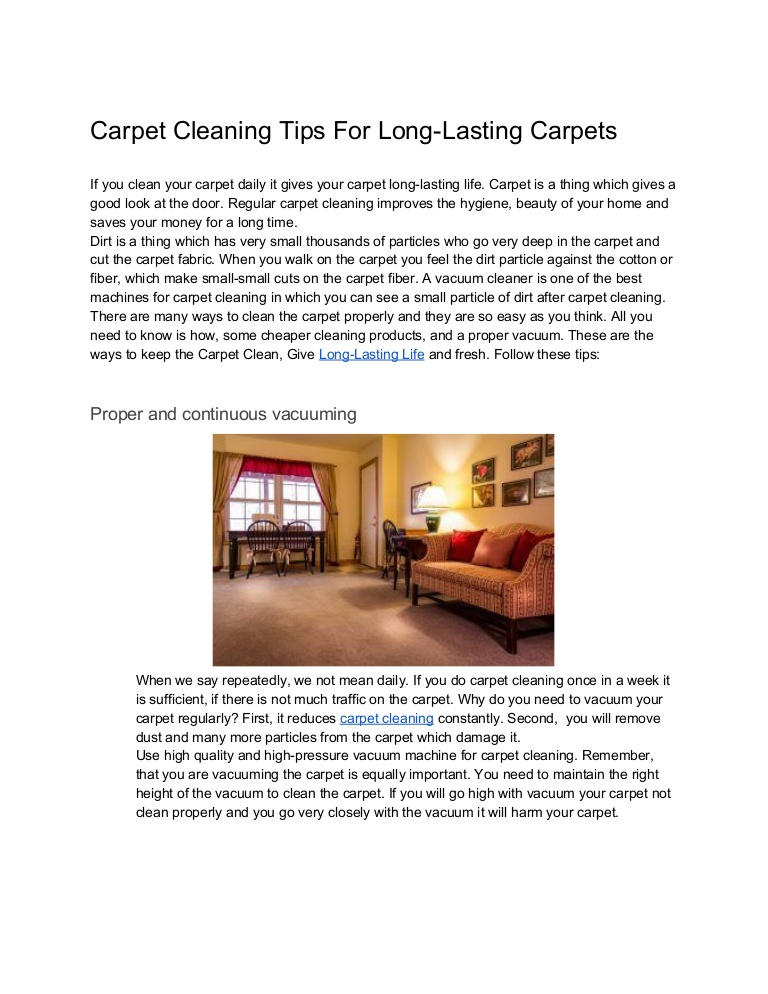 Carpet cleaning tips for durable carpets