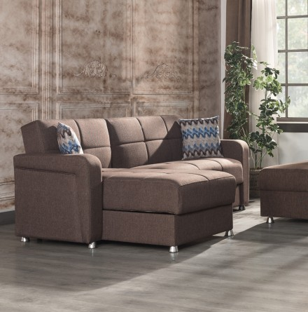 Casamode Harmony Brown Sectional - 1StopBedroom