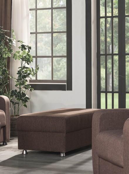 Casamode Harmony Brown Ottoman - 1StopBedroom