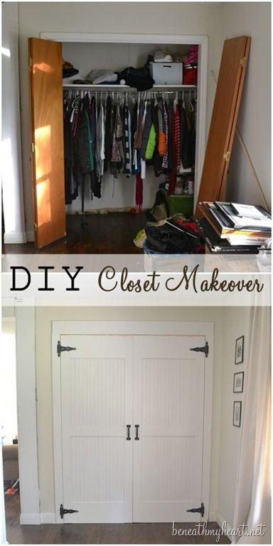 Closet Door Makeover Reveal! {Dremel Weekends | Closet door .