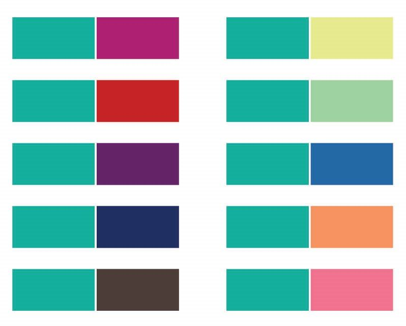 The colors that go with teal?  Check out these color combinations