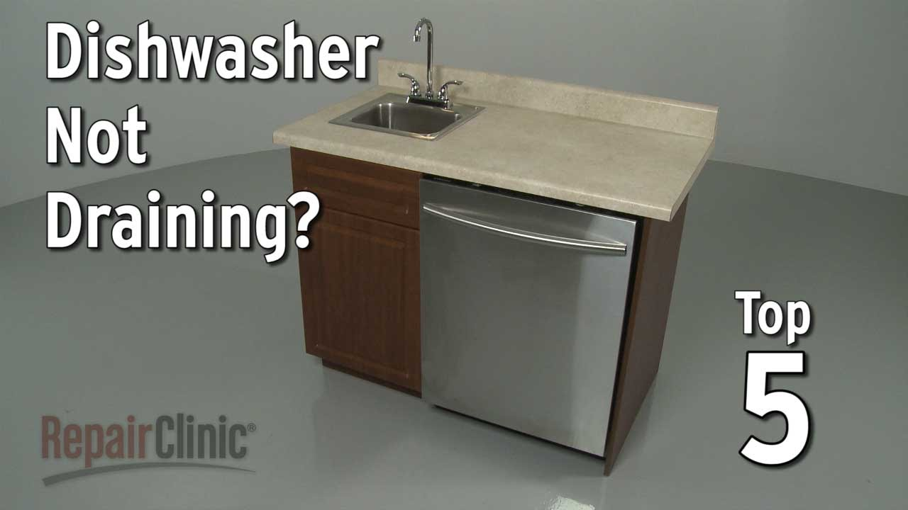 Common reasons a dishwasher won't drain