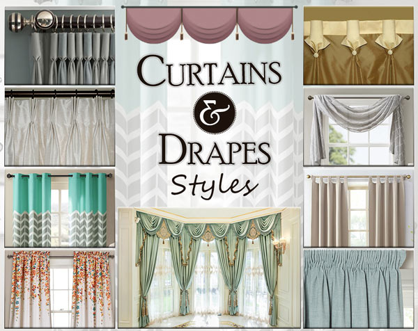 Decorate your House with Various Types of Curtains and Drap