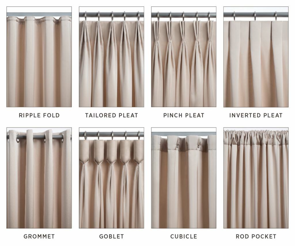 Common types of curtains and drapes for   your interior design project