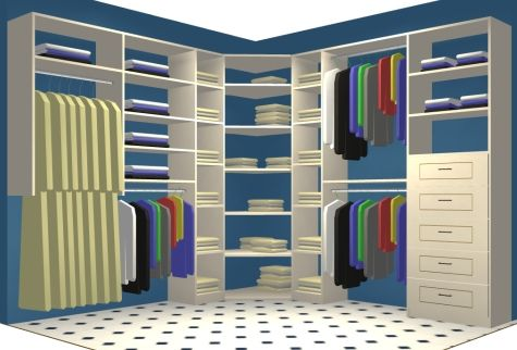 How to Maximize Storage Space in Closet Corners - | Master bedroom .
