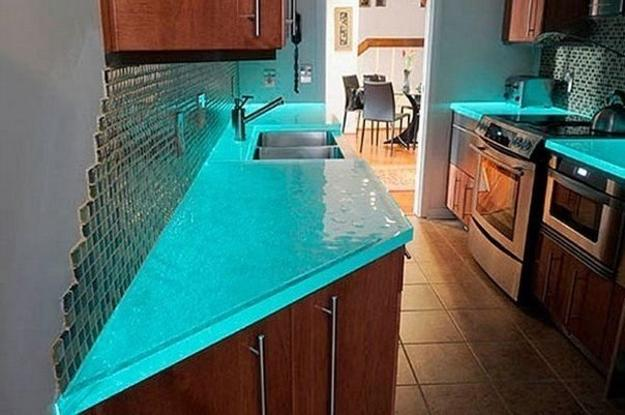 Modern Glass Kitchen Countertop Ideas, Latest Trends in Decorating .