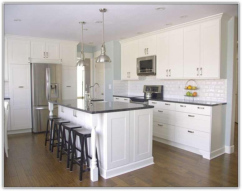 smaller posts - Kitchen Island Countertop Overhang Support .