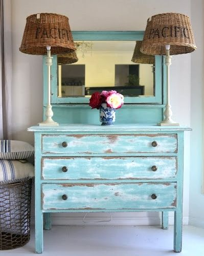 Distressed Painted Furniture Ideas for a Coastal Beach Look (With .