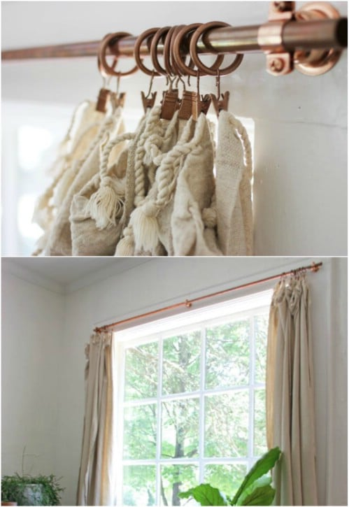 16 DIY Curtain Rods And Hooks That Give You Gorgeous Style On A .