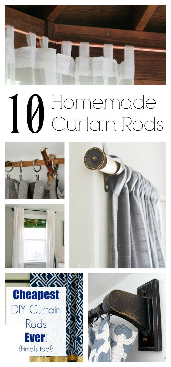 You can actually do DIY curtain rods in   your home