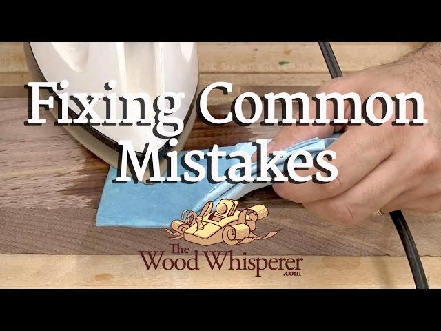 Fixing Common Woodworking Mistakes - YouTu