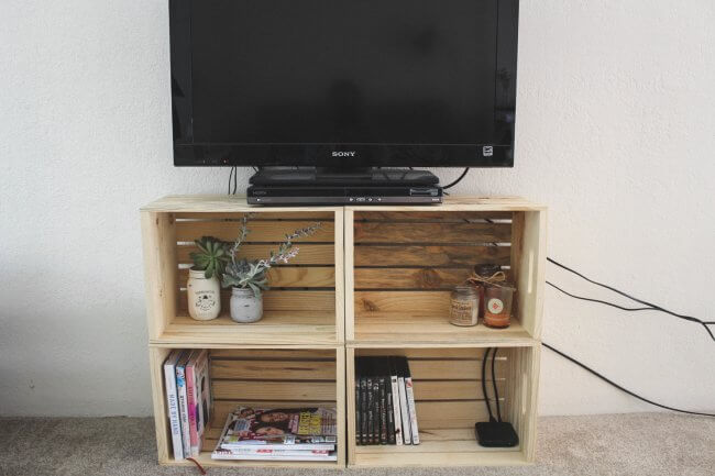 20 Easy And Unique Tv Stand Ideas For Your Next Project | Crafty .