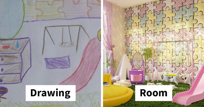 7 Kids Were Asked To Draw Bedrooms Of Their Dreams, And Here's .