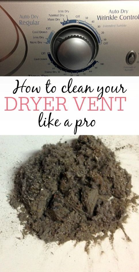 How To Clean Your Dryer Vent Like A Pro | Cleaning hacks, House .